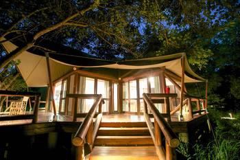 Exterior view of Tuli Safari Lodge.