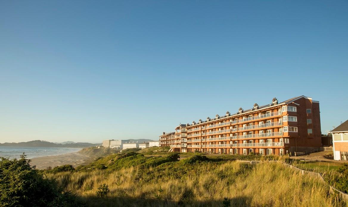Exterior view of Hallmark Resort in Newport.