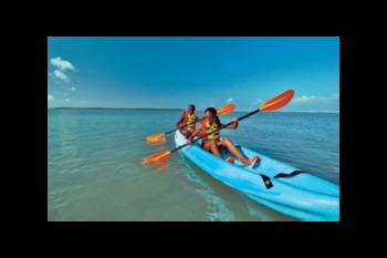Kayaking at Bermuda Bay Resort.