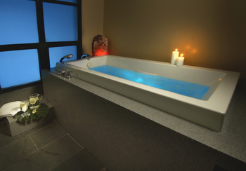 Indoor hot tub at Vail Mountain Lodge & Spa.