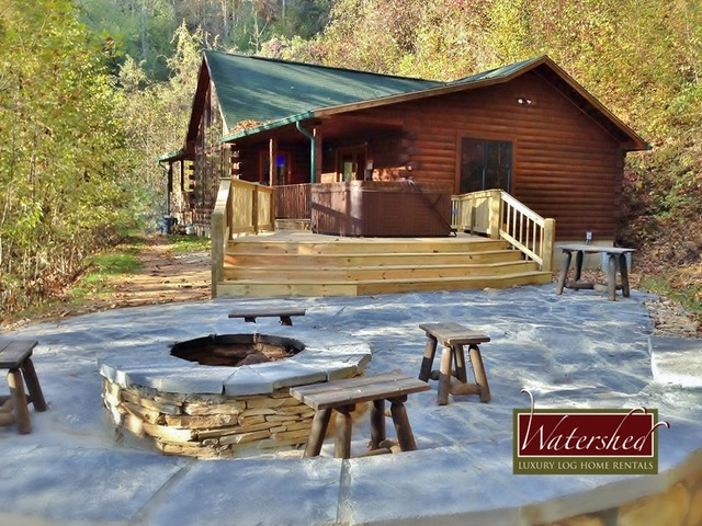 Watershed cabins bryson city nc resort reviews for Cabin in north carolina mountains