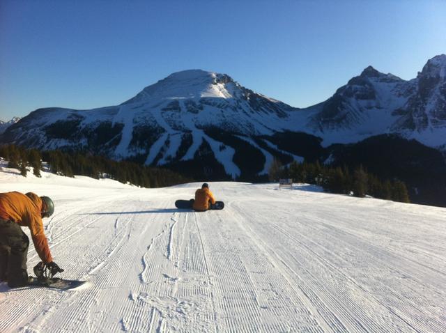 Snow boarding at Inns of Banff.
