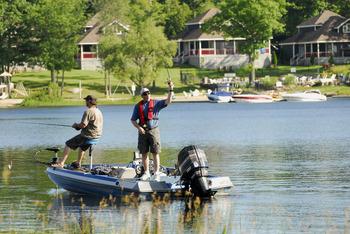 Fishing at Bayview Wildwood Resort.