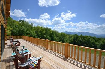 Vacation rental deck view at Franconia Notch Vacations Rental & Realty.