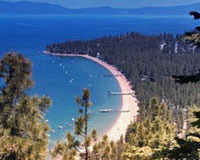 Tahoe Management Co. coastline and private beach.