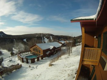Winter time at Eagle Ridge at Lutsen Mountain.
