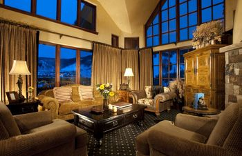 Guest living room at The Pines Lodge, A Rock Resort.