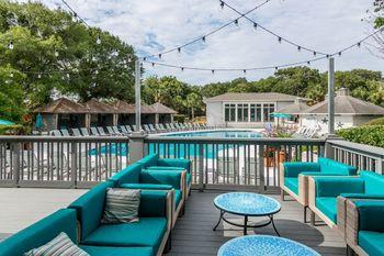 Outdoor pool at Sea Palms Resort.