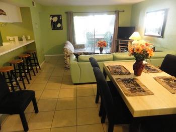 Guest room interior at Bermuda Bay Resort.