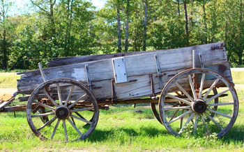 Old Wagon at Diamonds Old West Cabins