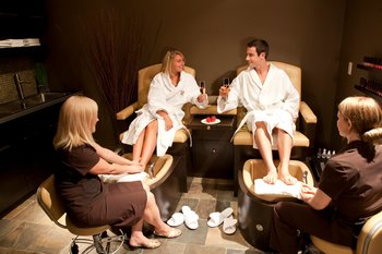 Pedicures at Grande Rockies Resort.