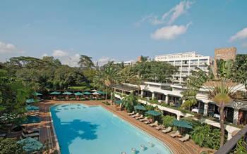 Outdoor pool at Nairobi Serena Hotel.