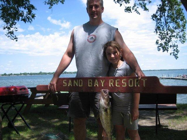 Fishing at Sand Bay Resort.