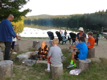 S'mores on the Beach at Lapland Lake Nordic Vacation Center