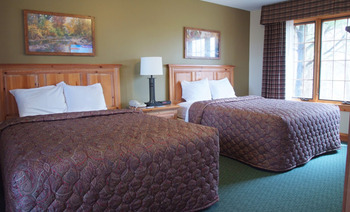 Guest room at Yarrow Golf Resort.