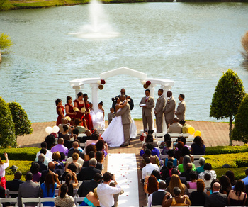 Outdoor Wedding at The Founders Inn