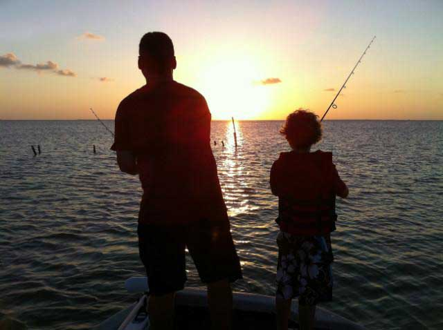 Fishing at Copano Vacation Rental Management.