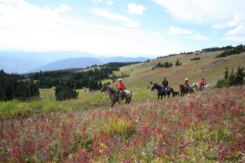 Horseback riding at Cahilty Lodge.
