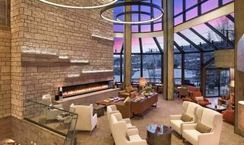 Lobby at The Westin Snowmass Resort.