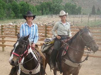 Horseback riding at Harmels Ranch Resort.