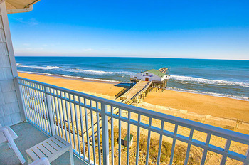 Balcony ocean view at Hilton Garden Inn Outer Banks.