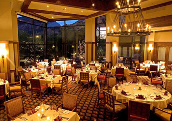 Dining room at The Lodge at Ventana Canyon.