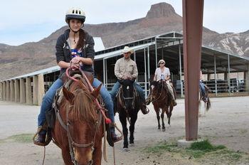 Riding horses at Lajitas Resort.
