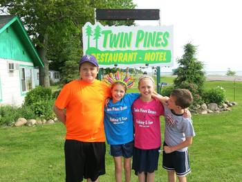 Family at Twin Pines Resort.