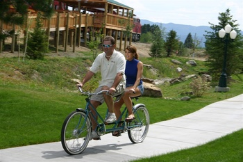 Bike riding at The Ashley Inn.