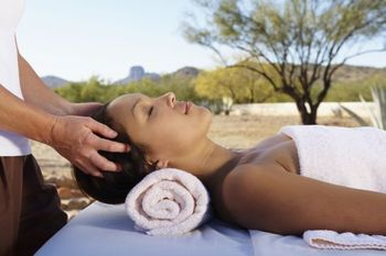 Spa massage at Rancho De Los Caballeros.