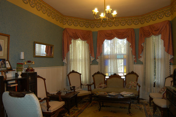 Parlor view at Madison Street Bed & Breakfast.