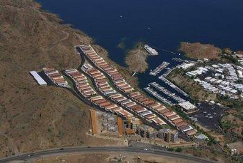 Aerial view of Havasu Springs Resort.