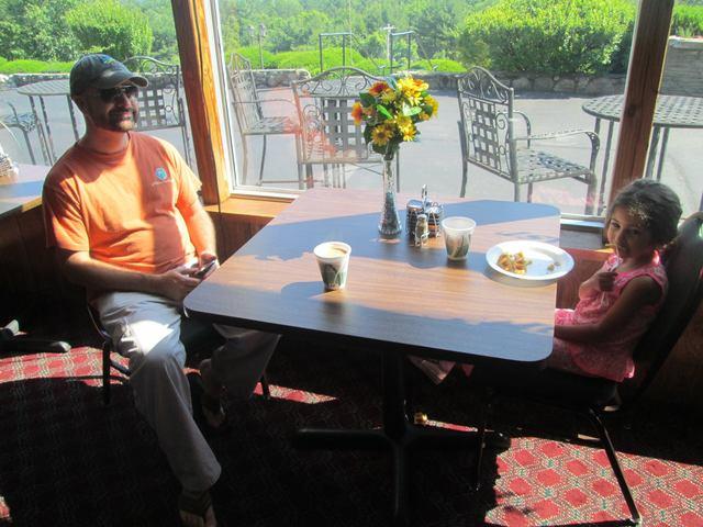 Family dining at Travelodge Lake George.