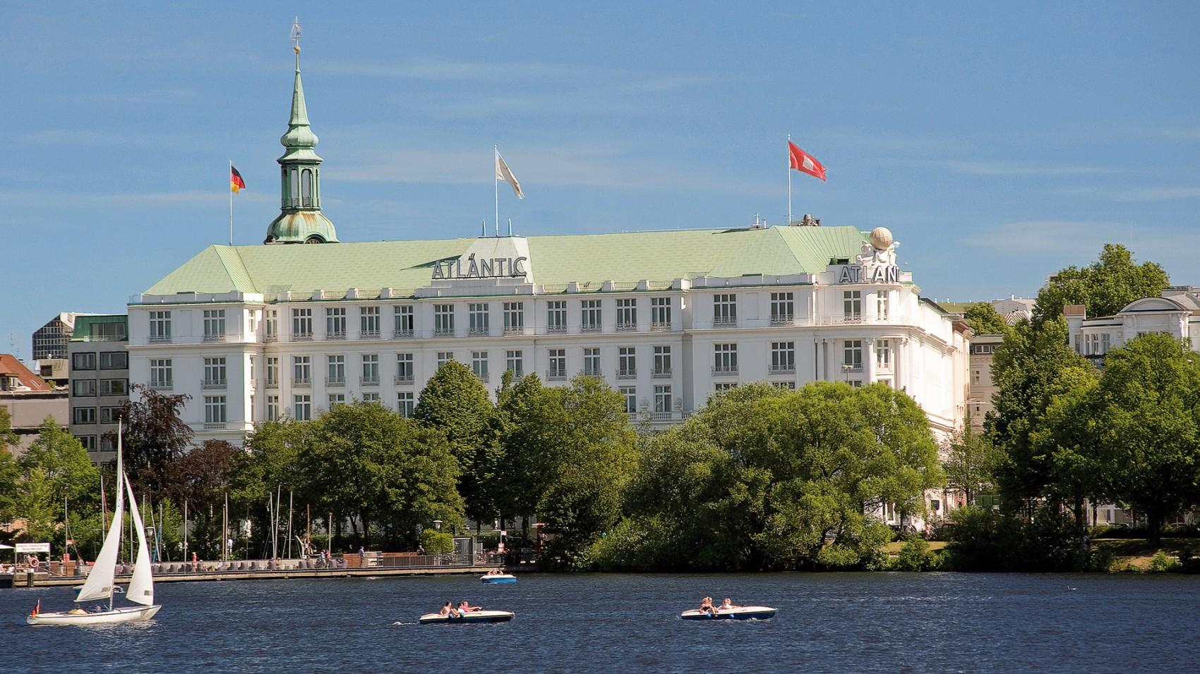 Exterior view of Kempinski Atlantic Hotel Hamburg.