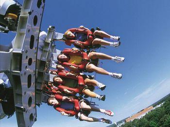 Busch Gardens amusement park near Holiday Inn Club Vacations Williamsburg Resort.