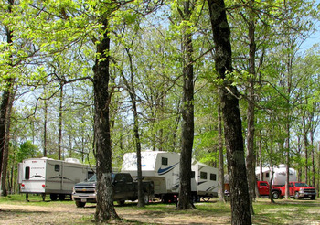 RV park at Mulberry Mountain Lodge.