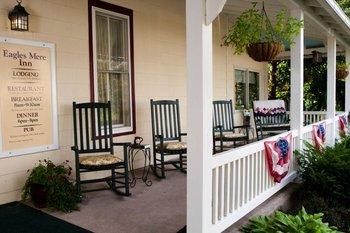 Porch at Eagles Mere Inn.