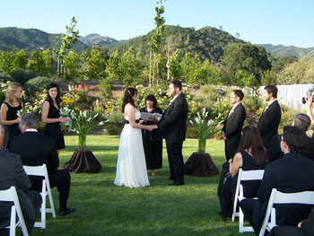 Wedding ceremony at Solage Calistoga.