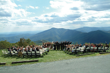 Wedding ceremony at Wintergreen Resort.