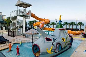 Outdoor waterpark at Caribbean Resort & Villas.