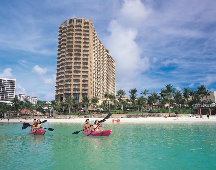 Exterior view of Outrigger Guam Resort.