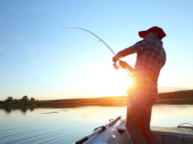 Fishing at Northern Lake George Resort.