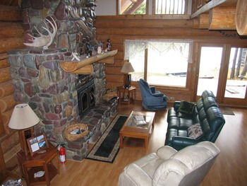 Living room at The Glacier Chalet.