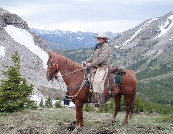 Horseback riding at Anchor D Guiding & Outfitting Ltd.