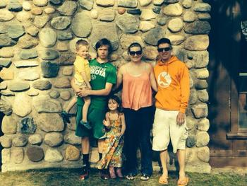 Family at Fremont's Point Resort.