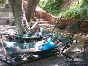 Relaxing at Old Creek Resort.