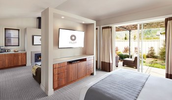 Guest room at Solage Calistoga.