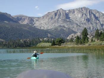 Kayaking at Reverse Creek Lodge.