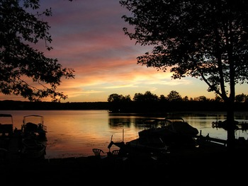 Sunset at Edinboro Lake Resort.