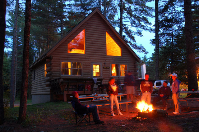 Cabin exterior at Northern Outdoors.